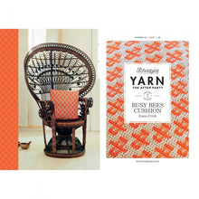 Load image into Gallery viewer, BOOKS AND BOOKLETS YARN THE AFTER PARTY BUSY BEES CUSHION