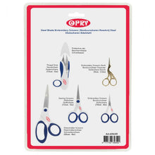 Load image into Gallery viewer, NOTIONS  SCISSORS OPRY SET OF 5  SCISSORS STAINLESS STEEL