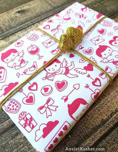 HOLIDAYS***** Valentine's Day Wrapping Papper