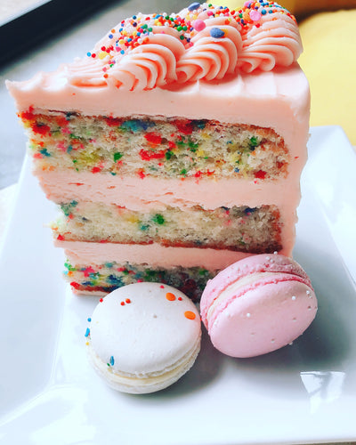 Funfetti Cake (8 inch) serves up to 20 guests