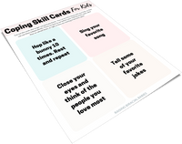 Coping Skill Cards For Kids