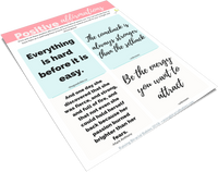 20 Empowering Affirmation Printable Cards
