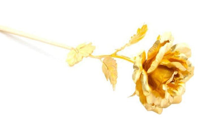 Golden Plated Rose - Beautiful Decorative Dipped and Coated Flower
