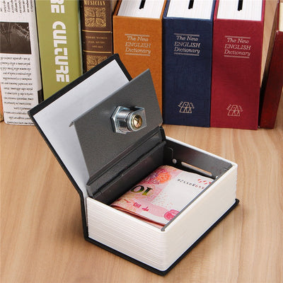 Small Dictionary Safe - Book Case Storage Box With Keylock