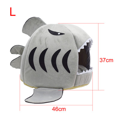 Cute Modern Pet House - Shark Cat Bed 4