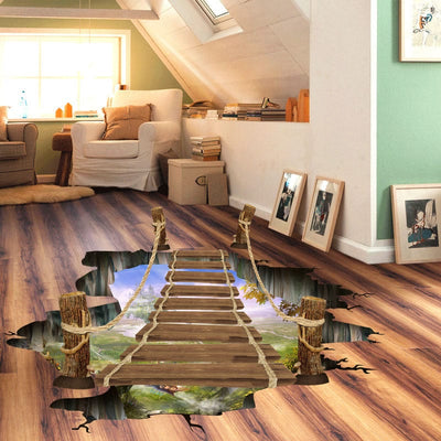 Cosmic 3D Floor Stickers - Galaxy Bridge Floor Home Murals