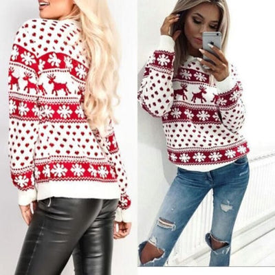 Women's Knit Sweater - Oversized Warm Ladies Sweater 2