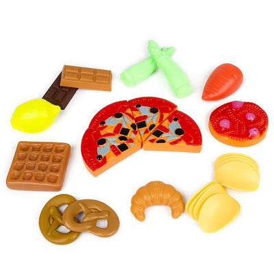 140 Pcs Kitchen Toy Set for Kids and Toddlers - Pretend Play Food