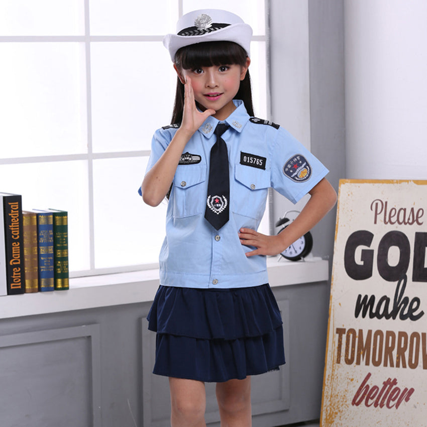 Cute Police Girl Costume - Halloween Costume For Kids