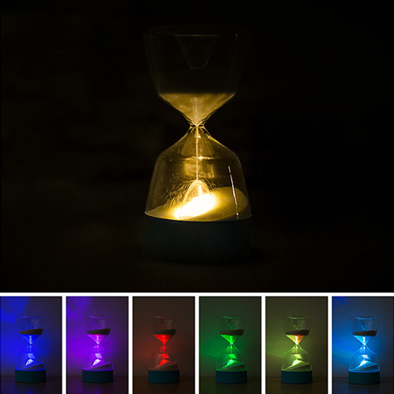 sand watch | unique hourglass sand timer | hourglass clock | 15 Minutes Glass | Sand Timer Timing | Light Sleeping Romantic | Bedside Lamp | Sand Hourglass Good Sleep Bedside Light |