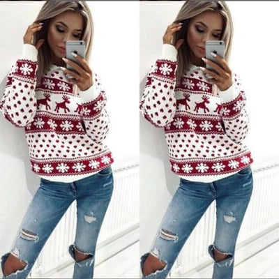Women's Knit Sweater - Oversized Warm Ladies Sweater 1