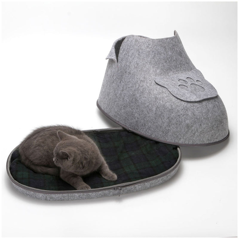 Shoe Shaped Small Pet Bed - Kitten Cat Bed Removable Cover
