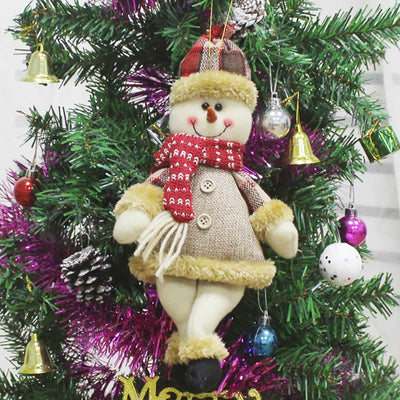 Plush Santa Snowman Elk Doll Hanging Christmas Tree Ornament