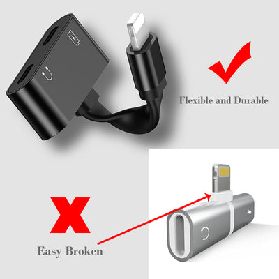 2 in 1 Lightning Adapter For iPhone Headphone and Charger 2