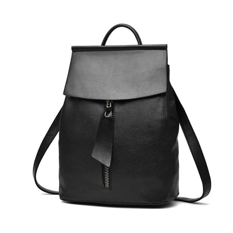 Lightweight Minimalist Backpack - Women Leather Backpack