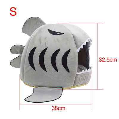 Cute Modern Pet House - Shark Cat Bed 3