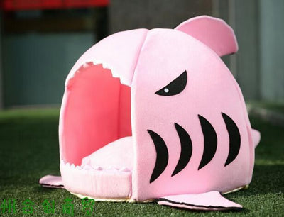 Cute Modern Pet House - Shark Cat Bed