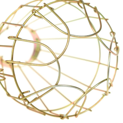 ceiling light covers, hanging lamps, light bulb covers, light bulb cage, metal light bulb cage, light bulb protector, cage light fixture, Metal Light Bulb Cage - Cage Light Fixture