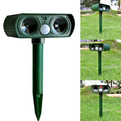 camtoa mole repeller,outdoor solar powered ultrasonic animal repeller with pir sensor - protect your yard lawn garden(waterproof)