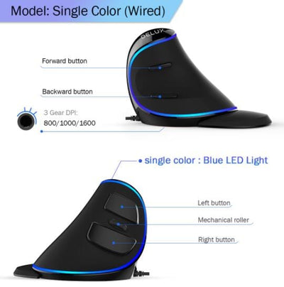 Ergonomic Vertical Gaming Mouse 3