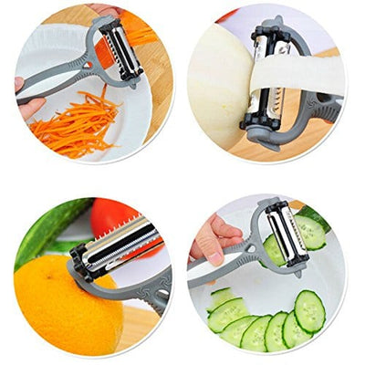 2Pcs 3 in One Fruit and Vegetable Kitchen Tool