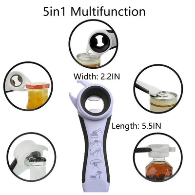 best manual can opener, handy can opener, best manual can opener, Best Manual Can Opener - 5 in 1 Multifunctional Can Opener