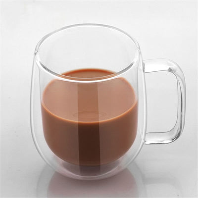 350ml Double Walled Glasses - Transparent Coffee Cup