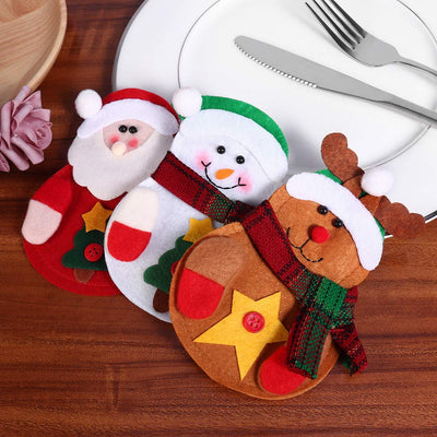 8 Pcs Christmas Silverware Holder - Christmas Cutlery Holders