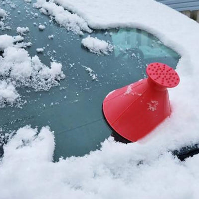 Car Windshield Snow Ice Scraper - Funnel Cone Shaped Snow Removal
