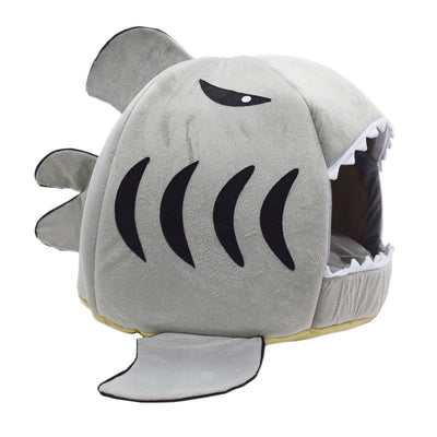 Cute Modern Pet House - Shark Cat Bed 1