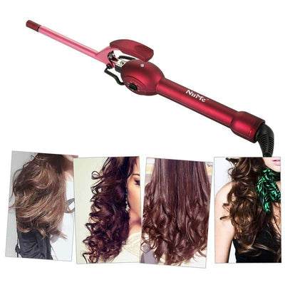 Wand Curling Iron - Professional Hair Waves with Hot Ceramic Brush