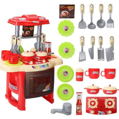 Toy Kitchen Play Set for Kids and Toddlers - Cooking Pretend