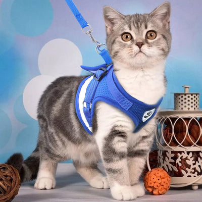 Mesh Cat Harness and Leash Set - Escape Proof Cat Harness