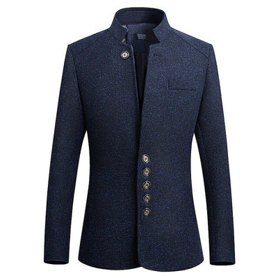 Blazer Jacket- Mandarin Collar Slim fit Casual Blazer For Men