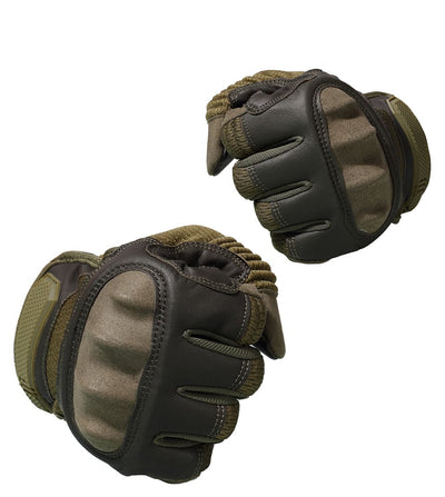 Mens Hard Knuckle Leather Gloves - Motorcycle Accessories