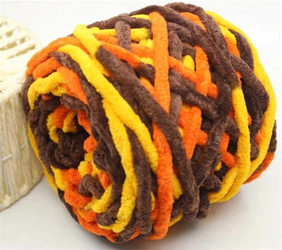 3 Pcs Colorful Chunky Yarn - Colorful Chenille Yarn Ball