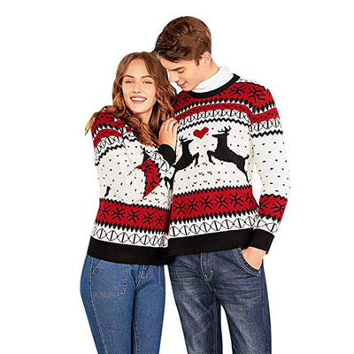 Christmas Couples Sweater - Two Person Ugly Sweater