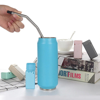 Foldable Stainless Steel Drinking Straw With Case