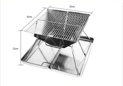 Portable Charcoal BBQ Grill Outdoor Kitchen