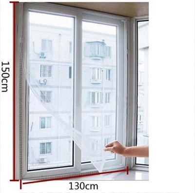 3 Pack DIY Mesh Window Screens - Mosquito Insect Screen Curtains