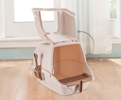 Portable Hooded Large Cat Litter Box