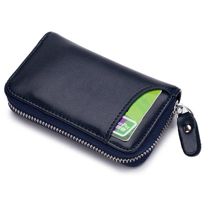 Square Genuine Leather Multifunction Wallet with Key Holders