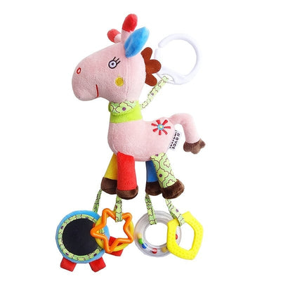 Newborn Baby Crib Mobile Toys - Infant Rattle Stuffed Animals