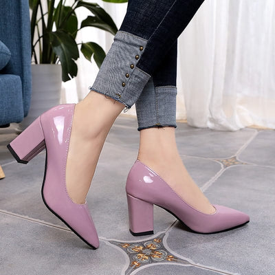 Pointed Closed Toe Platform High Heels Pumps Shoes