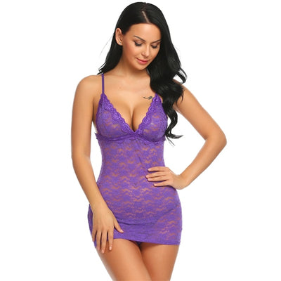 Floral Lace Sexy Babydoll Lingerie, sexy, erotic