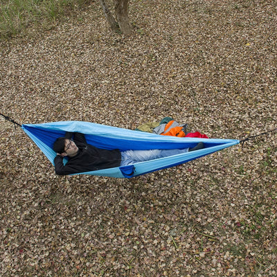 best camping hammock, best hammock, compact hammock, best outdoor hammock, Flying Hammock Tent - Ultralight 2 Person Swing and Tent for Camping and Hunting.