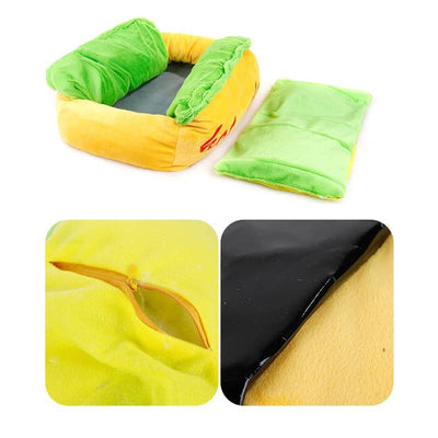 Cute Hot Dog Design Cat and Dog Sofa Bed