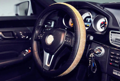 Luxurious Top Quality Rhinestone Steering Wheel Covers