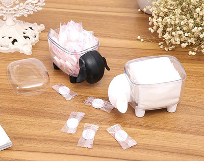 Cute Transparent Sheep Shaped Toothpick Holder