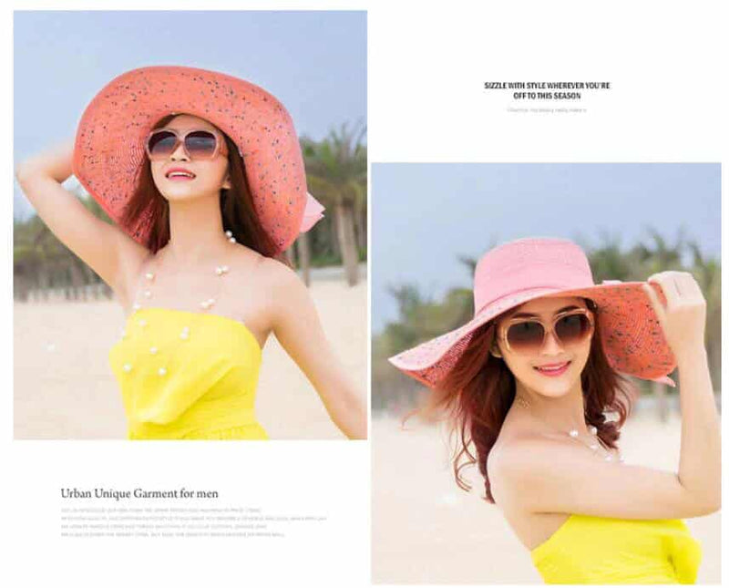 Ladies Floppy Beach Hat - Wide Brim Sun Hat For Women